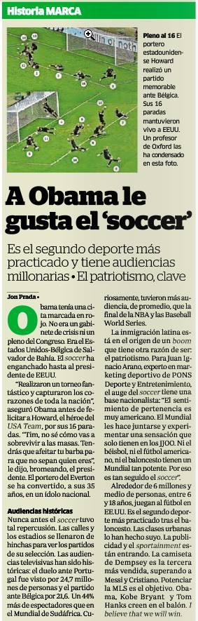 Obama soccer Marca